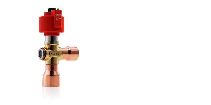 CAREL E4V electronic valve for medium/high capacity chillers and air-conditioning systems, up to a cooling capacity of 280 kW